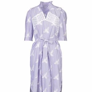 Elegant Purple Sandro Shirt Dress
